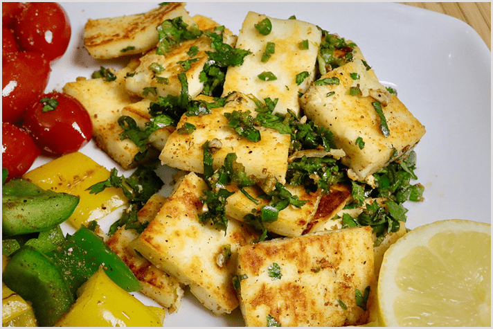 Garlic Paneer with Bell pepper